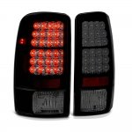 Chevy Suburban 2000-2006 Black Smoked LED Tail Lights