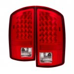2008 Dodge Ram Red Clear LED Tail Lights