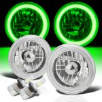 Jeep CJ7 1976-1986 Green Halo Tube LED Headlights Kit
