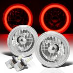 2002 Jeep Wrangler Red Halo Tube LED Headlights Kit