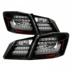 Honda Accord Sedan 2013-2015 Black LED Tail Lights