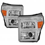 Ford F550 Super Duty 2011-2016 LED Tube DRL Projector Headlights