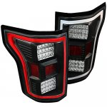 Ford F150 2015-2017 Black Full LED Tail Lights