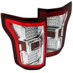 2015 Ford F150 Clear Red Full LED Tail Lights