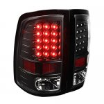2012 Dodge Ram Black LED Tail Lights