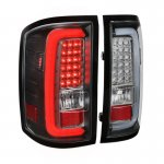 GMC Sierra 2500HD 2015-2018 Black LED Tail Lights