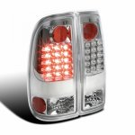 Ford F550 Super Duty 2008-2010 Clear LED Tail Lights