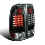 Ford F550 Super Duty 2008-2010 Black LED Tail Lights