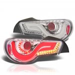 2013 Subaru BRZ Clear Tube LED Tail Lights
