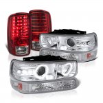2003 Chevy Tahoe Halo Projector Headlights LED Tail Lights