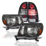 Toyota Tacoma 2005-2011 Black Headlights LED Tail Lights