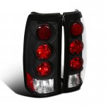 Chevy Silverado 1999-2002 Black Altezza Tail Lights
