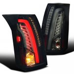 Cadillac CTS 2003-2007 Black Smoked Tube LED Tail Lights