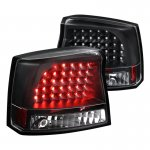 Dodge Charger 2006-2008 Black LED Tail Lights