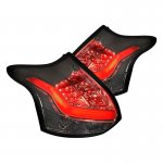Ford Focus Hatchback 2012-2014 Smoked LED Tail Lights