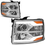2008 Chevy Silverado Facelift DRL Projector Headlights