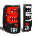 2005 Ford F150 Black Custom Tube LED Tail Lights