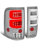 2005 Ford F150 Clear Custom Tube LED Tail Lights