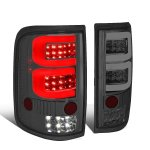 Ford F150 2004-2008 Smoked Custom Tube LED Tail Lights