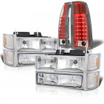 Chevy 3500 Pickup 1994-1998 Headlights and LED Tail Lights