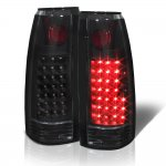 Chevy 3500 Pickup 1988-1998 LED Tail Lights Black