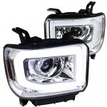 2014 GMC Sierra 1500 LED Tube DRL Projector Headlights