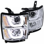 2015 Chevy Silverado DRL Projector Headlights LED Signal