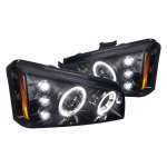 Chevy Avalanche 2002-2006 Smoked Projector Headlights