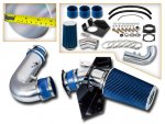 1999 Ford F150 V8 Cold Air Intake with Heat Shield and Blue Filter