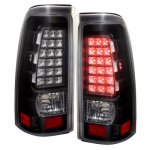 GMC Sierra 2500HD 2001-2006 LED Tail Lights Black and Clear