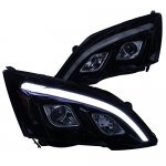 Honda CRV 2007-2011 Smoked LED DRL Projector Headlights