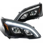 Honda CRV 2007-2011 Black LED DRL Projector Headlights