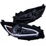 Mazda 3 2010-2013 Smoked LED DRL Projector Headlights