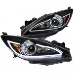 Mazda 3 2010-2013 Black LED DRL Projector Headlights