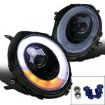 Mini Cooper 2007-2012 Smoked LED DRL Projector Headlights