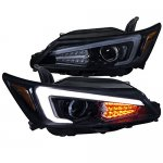 Scion tC 2011-2013 Smoked LED DRL Signal Projector Headlights