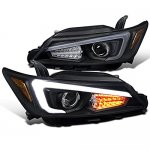 Scion tC 2011-2013 Black LED DRL Signal Projector Headlights