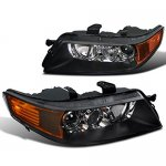 Acura TSX 2004-2005 Black Xenon HID Projector Headlights