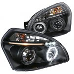 Hyundai Tucson 2005-2009 Black Projector Headlights with LED
