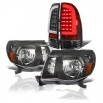 Toyota Tacoma 2005-2011 Black Headlights and Tube LED Tail Lights