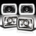 Jeep Grand Wagoneer 1987-1991 Black Halo Tube Sealed Beam Headlight Conversion