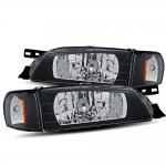 Subaru Impreza 1995-2001 Black Headlights Corner Lights