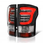 Ford F150 2015-2017 Black Custom LED Tail Lights Red Tube
