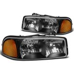 GMC Sierra 1500HD 2001-2007 Black Euro Headlights