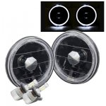 1984 BMW 5 Series Black Halo LED Headlights Conversion Kit Low Beams