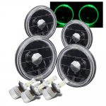 1963 Oldsmobile F85 Black Green Halo LED Headlights Conversion Kit