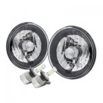 1973 Dodge Pickup Truck Black Chrome LED Headlights Kit