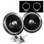 1973 Dodge Pickup Truck Black Halo LED Headlights Conversion Kit