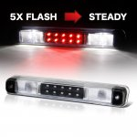 GMC Sierra 3500 1988-1998 Black Flash LED Third Brake Light White LED Cargo