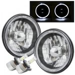 1973 Dodge Pickup Truck Black Chrome Halo LED Headlights Conversion Kit